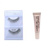 12 Pairs Crème 100% Human Hair Natural False Eyelash Extensions Black #503 Long Natural Lashes