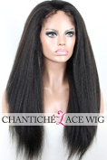 Chantiche Natural Looking Italian Yaki Lace Front Wigs Best Brazilian Remy Human Hair Wigs with Baby Hair for African Americans 130 Density 36cm #1