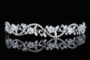 Bridal Flower Rhinestones Crystal Wedding Headband Tiara