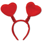 Valentine's Day Red Heart Head Boppers Headband, Pkg/3