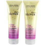 John Frieda Sheer Blonde Colour Renew Tone-Correcting, DUO set Shampoo + Conditioner, 250ml, 1 each