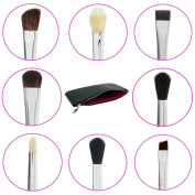 Eye Makeup Brushes with Free Case Includes 8 Must Have Eyeshadow & Eyeliner Brush Set