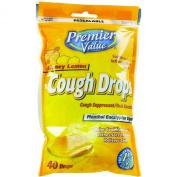 Premier Value Cough Drops Honey Lemon - 40ct