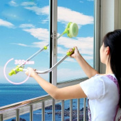 Zuwit Telescopic Window Cleaner Double Faced Glass Cleaning Kit Extending Wash Head with Pole,Squeegees