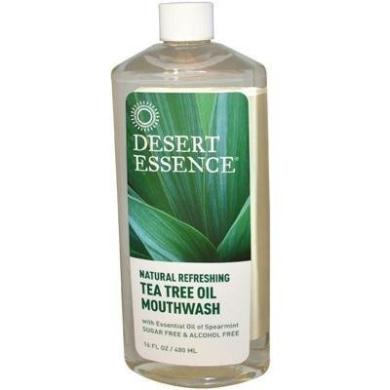 Desert Essence; Tea Tree Oil Mouthwash With Spearmint-470ml-Liquid by Desert Essence,Inc