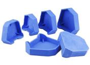 Base Model 6 pcs/Set Dental Lab Model Former Base Moulds with Notches