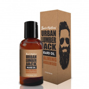 Urban Lumberjack Beard Oil & Conditioner, Calming Sandalwood, All-Natural 60ml
