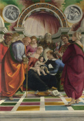 Oil Painting 'Luca Signorelli The Circumcision ' Printing On Perfect Effect Canvas , 30 X 43 Inch / 76 X 110 Cm ,the Best Garage Decor And Home Artwork And Gifts Is This Amazing Art Decorative Canvas Prints