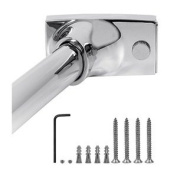 WINGITS CONTOUR OVALÖ CURVED SHOWER ROD FOR NEW CONSTRUCTION, 1.5m, POLISHED STAINLESS STEEL, 6 PACK