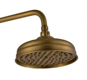 Traditional Design Antique Brass Finish 20cm Shower Face Rain Fall Shower Head Made of Solid Brass