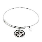 Anchor Expandable Bangle in Rhodium Plating over Brass Bracelets