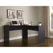 Altra Furniture The Works Contemporary L-Shaped Desk, Cherry/Slate Grey