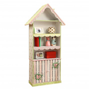 Fantasy Fields - Crackled Rose themed Pink Book Case Kids Wooden Bookcase with Storage Drawer  Hand Crafted & Hand Painted Bookshelf   Child Friendly Water-based Paint