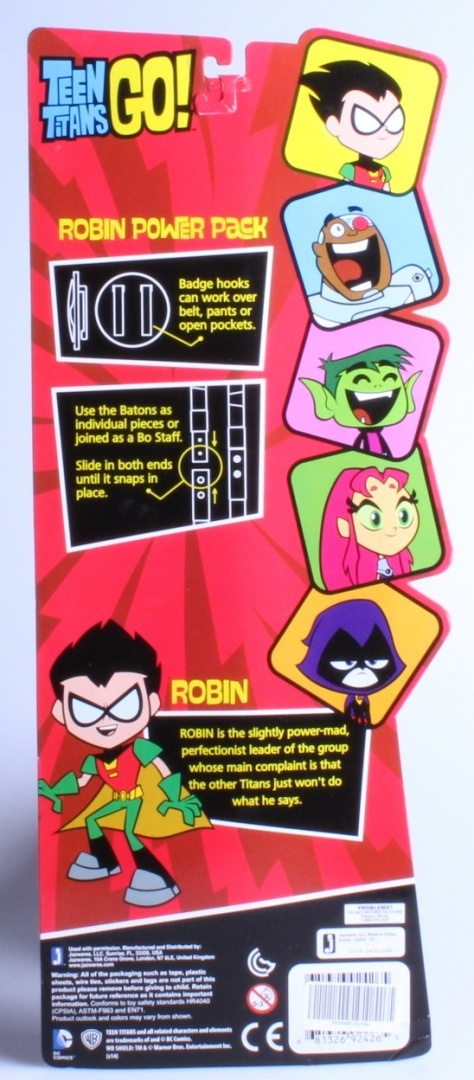 Teen Titans Go Robin Power Pack Mask, Badge /& Batons **SOLD OUT IN STORES***