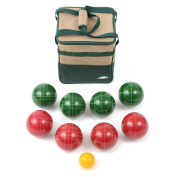 Lion Sports Best 107 mm Tournament Resin Bocce Set with PVC Carry Bag