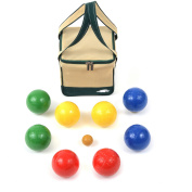Lion Sports 100 mm Backyard Resin Bocce Set with PVC Carry Bag