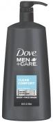 Dove Men+Care Clean Comfort Body Wash + Face Wash Pump 690ml