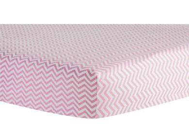 Trend Lab Pink Chevron Flannel Crib Sheet