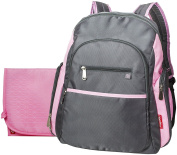 Fisher-Price Ripstop Nappy Bag Backpack - Grey/Pink