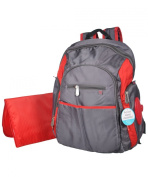 Fisher-Price Ripstop Nappy Bag Backpack - Grey/Red