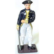 American Revolutionary War British Naval Commander Metal Hand Painted Collectible Figure Toy Soldier W Britain Type