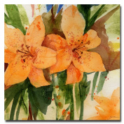 Trademark Fine Art Tiger Lilies by Sheila Golden, 46cm x 46cm