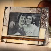 J Devlin 4x6 Horizontal Glass Photo Frame- Vintage, Opal & Brown