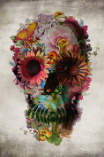 Poster Service Flower Skull Poster, 60cm by 90cm