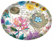 Michel Design Works Glass Soap Dish, Honeysuckle