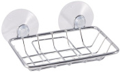 LDR 163 1550CP Exquisite Soap Dish with Two Suction Cups, White