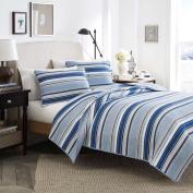 Stone Cottage Fresno Cotton Quilt Set, King, Blue