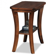 Leick Furniture Boa Collection Solid Wood Narrow Chairside End Table