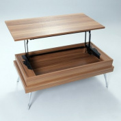Koryo Walnut Lift-Top Rectangular Coffee Table