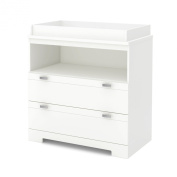 South Shore Reevo Changing Table with Storage, Pure White