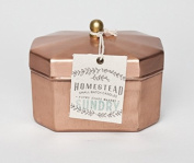 """Found Goods Market """"Sundry"""" Natural Soy Candle in Octagonal Copper Tea Tin"""