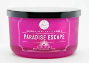 DW Home Paradise Escape Large 3-wick Pastel Pink Dish Candle