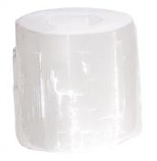 Natural White Selenite Stone Coastal Beach Votive Candleholder - Set of 3