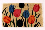 Kempf Multi Tulip Natural Coco Doormat, 18 by 80cm by 2.5cm