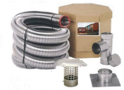 Forever Vent SW625SSK SmoothWall Double Ply Stainless Steel Chimney Liner Kit, 15cm x 7.6m
