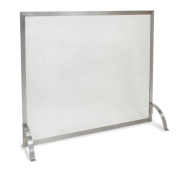 Pilgrim 18257 Home and Hearth Newport Single Fireplace Panel Screen, Stainless Steel