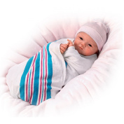 Sandy Faber Welcome To The World Newborn Baby Girl Doll Is Fully Poseable by The Ashton-Drake Galleries