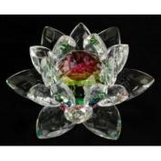 Rainbow Crystal Lotus Flower Feng Shui Home Decor 7.6cm X 7.6cm X 5.1cm