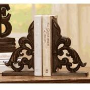 Ornate Fleur de Lis Book Ends