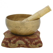 Buddhist Touch Bell Metal Art Indian Singing Bowl For Meditation And Healing Through Vibration 14cm