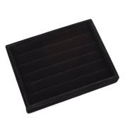 KLOUD City ®Black Velvet 5 Rows Ring Organiser Display Case/Ring Trays/Showcase
