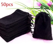 Beety 50 Pack 7.6cm X 10cm Wholesale Promotion - Black Velvet Cloth Jewellery Pouches / Drawstring Bags
