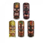 Set of 5 Polynesian Tiki Style Wall Masks 30cm