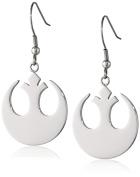 Star Wars Jewellery Rebel Alliance Stainless Steel Dangle Hook Drop Earrings