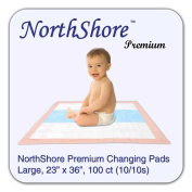 NorthShore Premium Changing Pads, Peach 1240ml, 60cm x 90cm ., Case/100