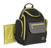 Baby Boom BB Gear Quick Find Back Pack Nappy Bag, Black, Grey, Green